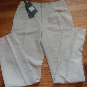 VTG Trussardi White Linen Blend Jeans sz 35 Italy